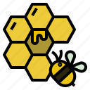 bee, bumblebee, hive, honey, insect icon