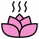 bloom, flower, blossom, petal, aroma, lotus, scent icon