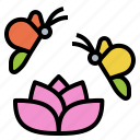 butterfly, flower, fly, insect icon
