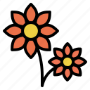 bloom, blossom, flora, flower, petal, plant icon