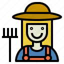 farmer, gardener, girl, grower, seedsman, smile icon