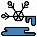liquefy, liquid, melt, snow, water icon