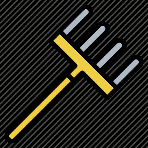 equipment, garden, lecher, rake, tool icon