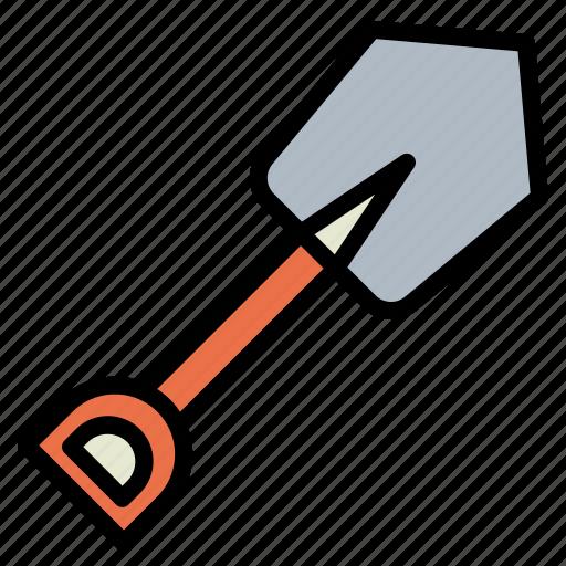 digging, equipment, garden, shovel, spade, trowel icon