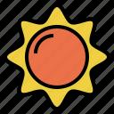 hot, solar, summer, sun, sunny, sunrise icon
