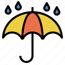 rain, rainy, shower, umbrella, wet icon