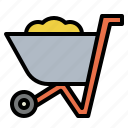 garden, handcar, pushcart, tool, trolley, wheelbarrow icon