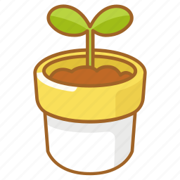 grow, growth, plant, pot, shoot, spring, sprout icon