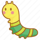 bug, caterpillar, cute, garden, insect, larvae, nature icon