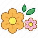 bloom, bush, flower, nature, plant, spring icon