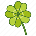 clover, four, green, irish, leaf, lucky, shamrock icon