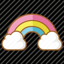 colours, heaven, rainbow, spring, summer icon