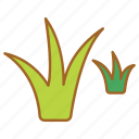 bulb, grass, hair, lawn, sprout, tufts, weeds icon