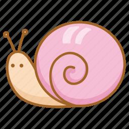 garden, mollusc, sea, shell, slow, snail icon