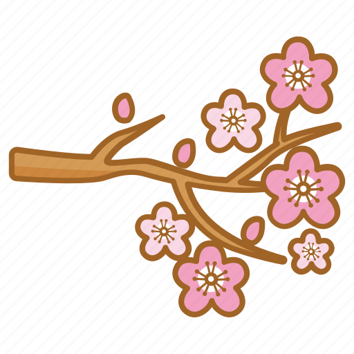 blossom, cherry, flower, spring, tree icon