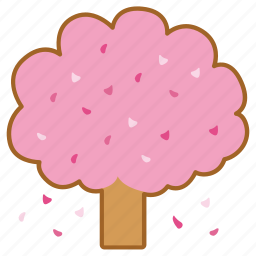 autumn, blossom, cherry, fall, spring, tree icon
