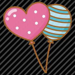 balloon, celebrate, celebration, helium, party icon