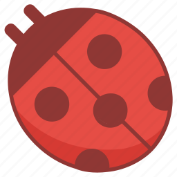 beetle, bug, insect, lady, ladybug icon