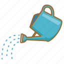 can, gardening, pot, pouring, sprinkling, water, watering icon
