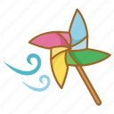 pin, pinwheel, toy, wheel, wind icon