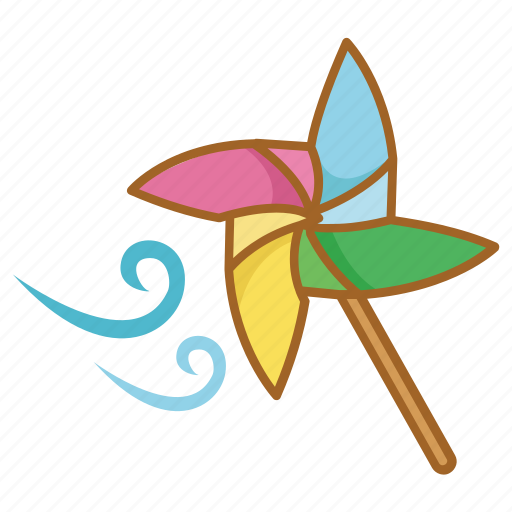 pin, pinwheel, toy, wheel, wind icon