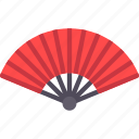 china, chinese, hand fan icon