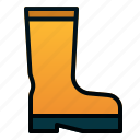 boots, garden, rain, spring icon