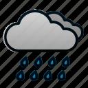 cloud, rain, spring, weather