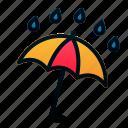 rain, spring, umbrella, weather, wet icon