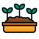 botany, farm, garden, leaves, plant, seed, spring icon