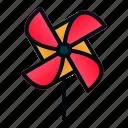 craft, origami, pinwheel, spring, windmill icon