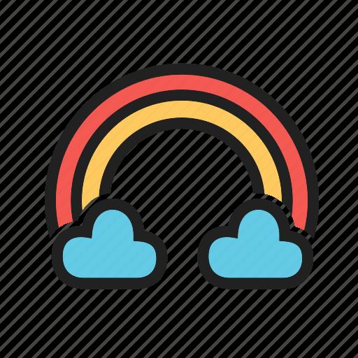 cloud, dark, light, rain, rainbow, season, sky icon