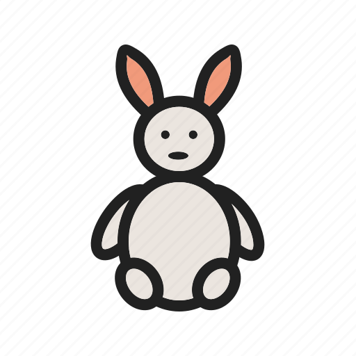 bunny, cute, ears, little, rabbit, white, young icon
