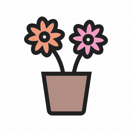 decoration, flower, garden, nature, plant, pot, spring icon