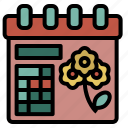 spring, calendar, easter, date, month, season