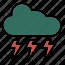spring, cloud, heavy, rain, strom, weather