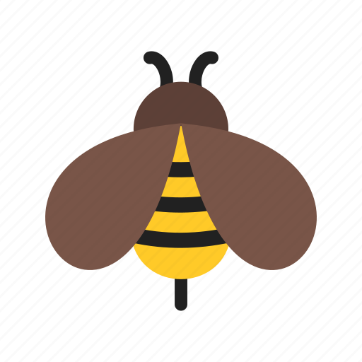 bee, bees, flower, honey, nature, spring, yellow icon