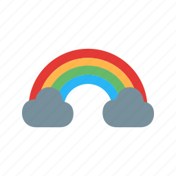 cloud, dark, light, rain, rainbow, season, sky icon