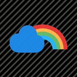 beautiful, gradient, green, rainbow, sky, spring, sunset icon