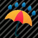 rain, spring, umbrella, weather, wet
