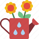 flower, spring, watering icon