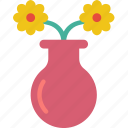 easter, flower, spring, vase icon