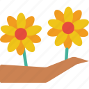 branch, easter, flower, spring icon