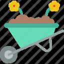 spring, flower, easter, garden, wheelbarrow icon