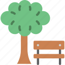 bench, easter, park, spring, tree icon