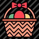 easter, egg, holiday, decoration, celebration, basket, spring