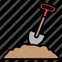 shovel, garden, gardener, gardening, dig, dirt, spring