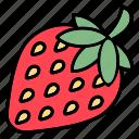 strawberry, fruit, healthy, fresh, sweet, food, spring