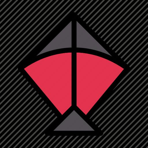 Kite, fly, toy, spring, season icon - Download on Iconfinder