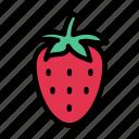 strawberry, fruit, food, spring, season